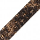 """Our celestial 1 1/2"""" Star Embossed Vinyl Ribbon will leave you starstruck! This gorgeous ribbon is embossed with stars in various sizes, giving it a fun and carefree vibe. The texture of the shapes on the leather-like trim adds to its unique style. Use it"""