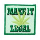 """3"""" x 2 3/4"""" MAKE IT LEGAL APPLIQUE"""