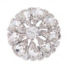 Petal Rhinestone Button