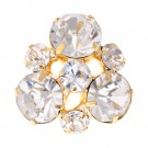 Statement Stone Cluster Rhinestone Button