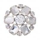 Brilliance Baguette Petal Rhinestone Button