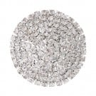 Dome Point Rhinestone Button with Shank