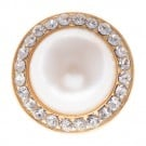 Pearl Button with Rhinestone Rim