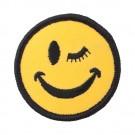 """2"""" SMILEY FACE WINKING EYE APPLIQUE"""