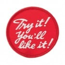 "2 1/2"" Try it! You'll like it! Patch"
