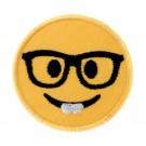 Emoji w/ Glasses Stk/Iron-on