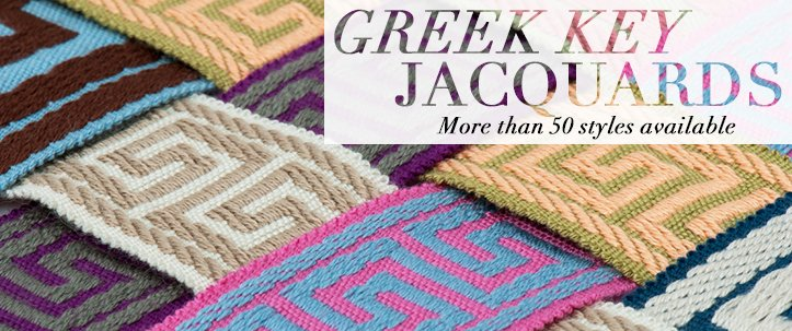 greek key Jacquard