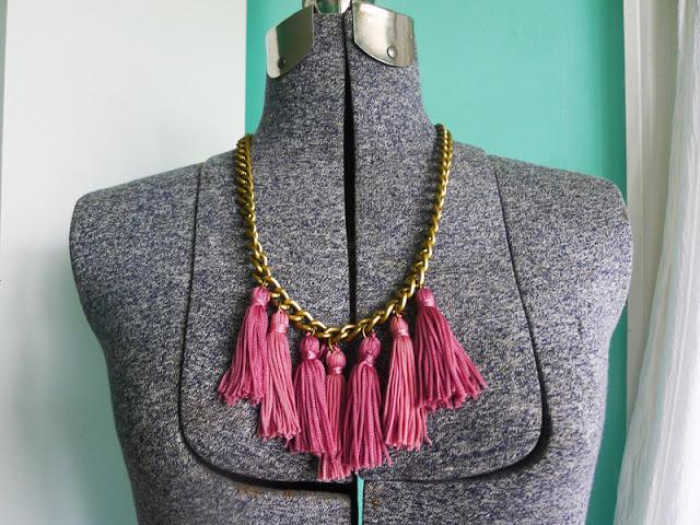 Diy Tassel Necklace M J Blog