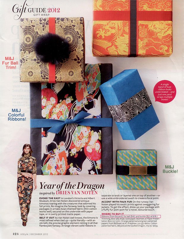 M&J Gift Wrap in InStyle! | M&J Blog