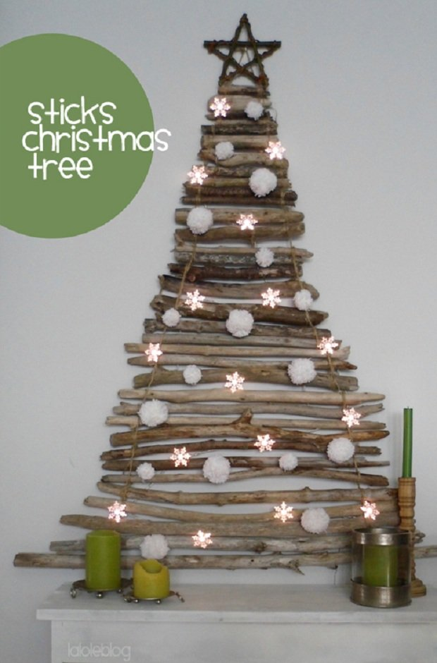 2DIY Sticks Christmas Tree