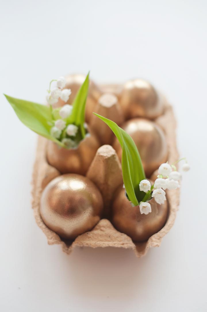 Golden Eggs for Easter