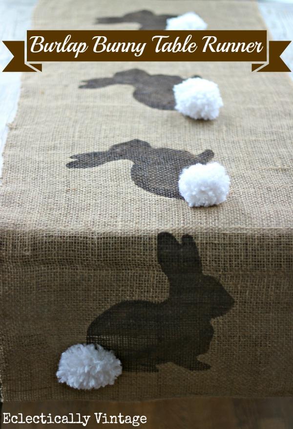 Burlap Bunny Runner