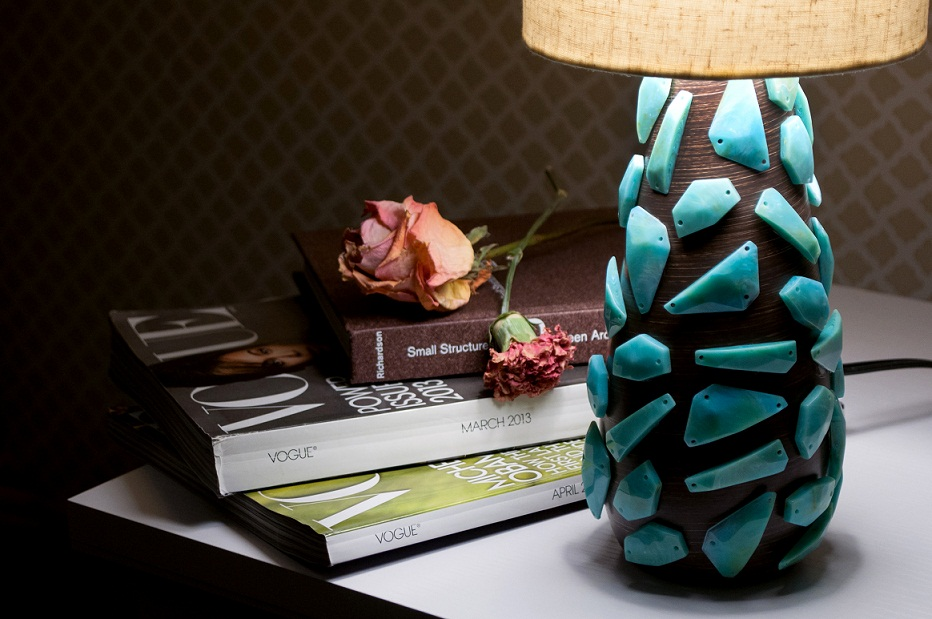 Lamp with Sew-Ons