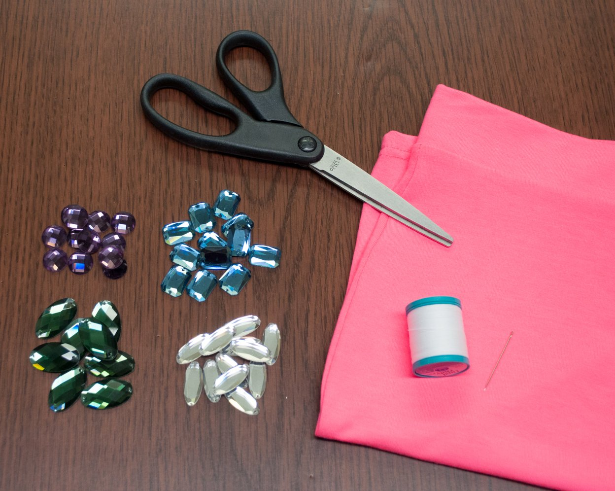 Materials for Neon Embellished Skirt