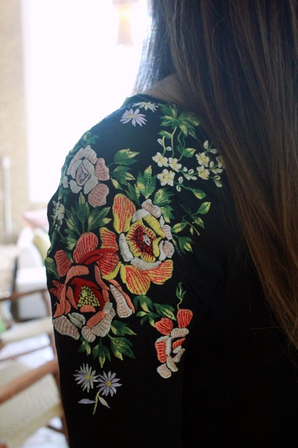 Embroidered Shoulder of Jacket