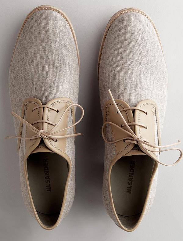 Jil Sanders Canvas Oxfords