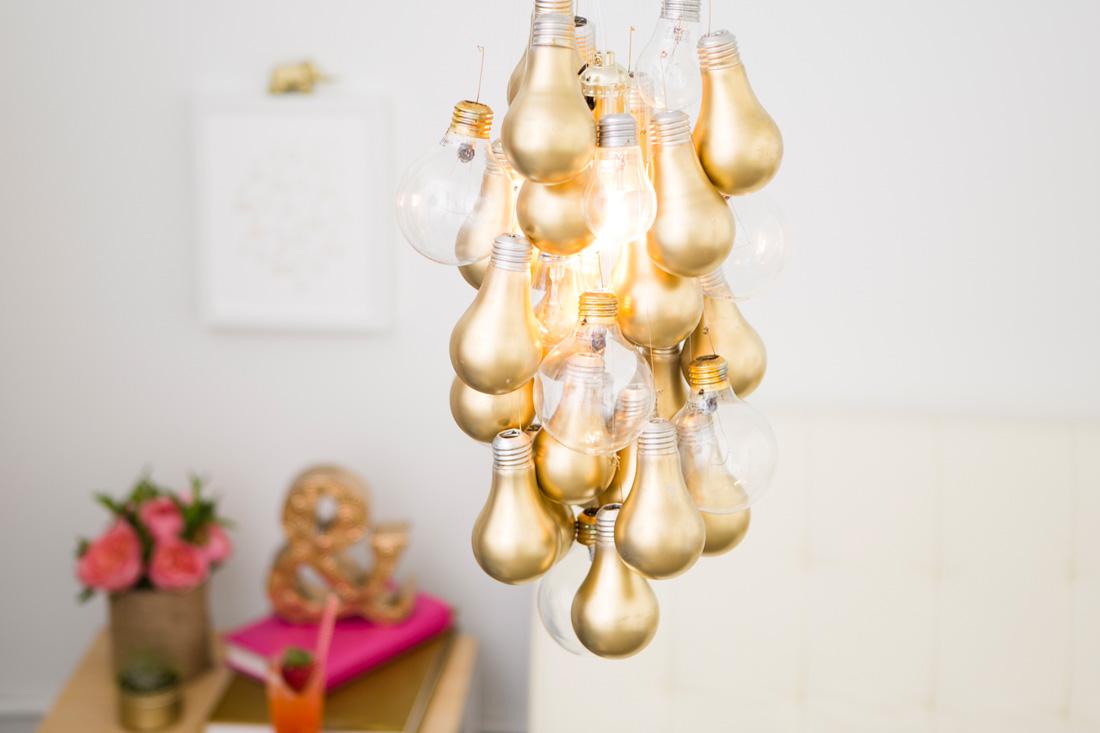 Gold Bulb Chandelier