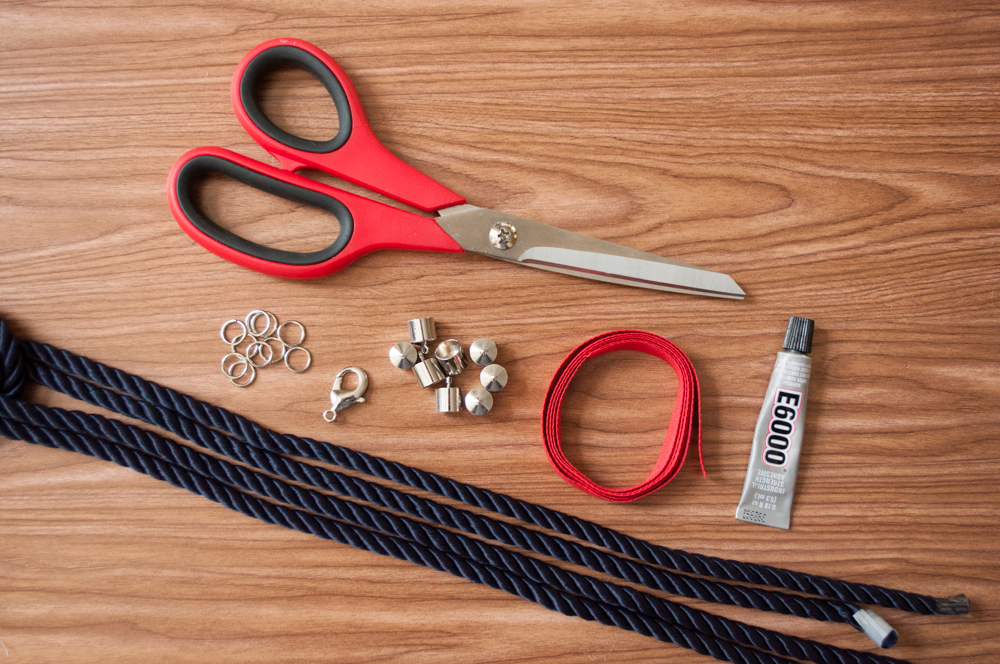 Nautical Knot Necklace Materials