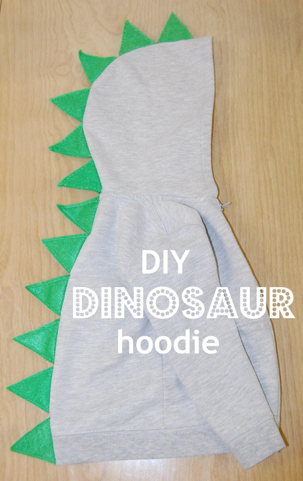 diy dinosaur hoodie tutorial