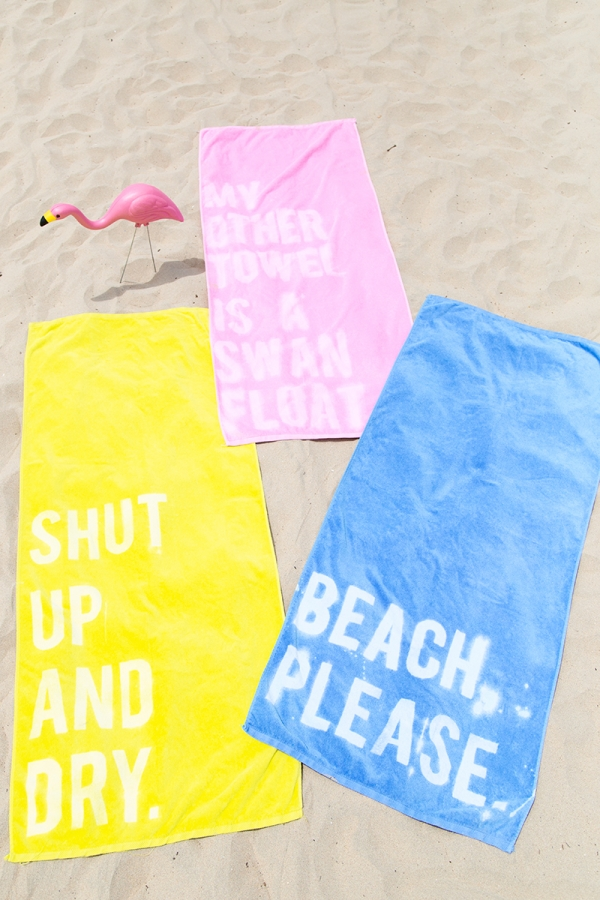 M&J Trimming - Bleached Beach Towel DIY
