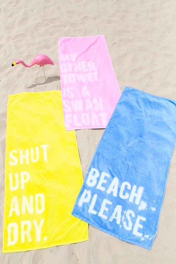 M&J Trimming - Bleached Beach Towel DIY