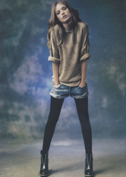M&J Trimming: Shorts with Tights Combination for Fall