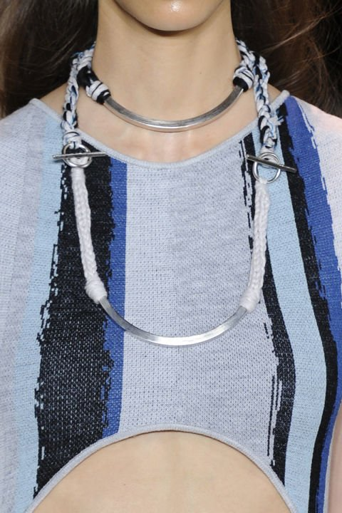 M&J Trimming - Rope and Metal Necklace