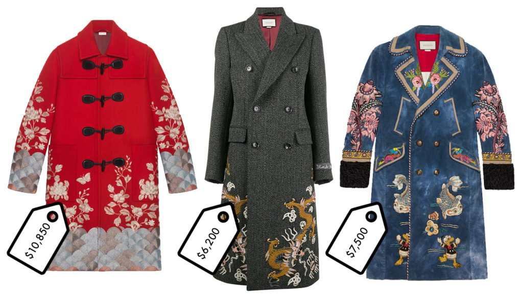 Gucci's Embroidered Coats