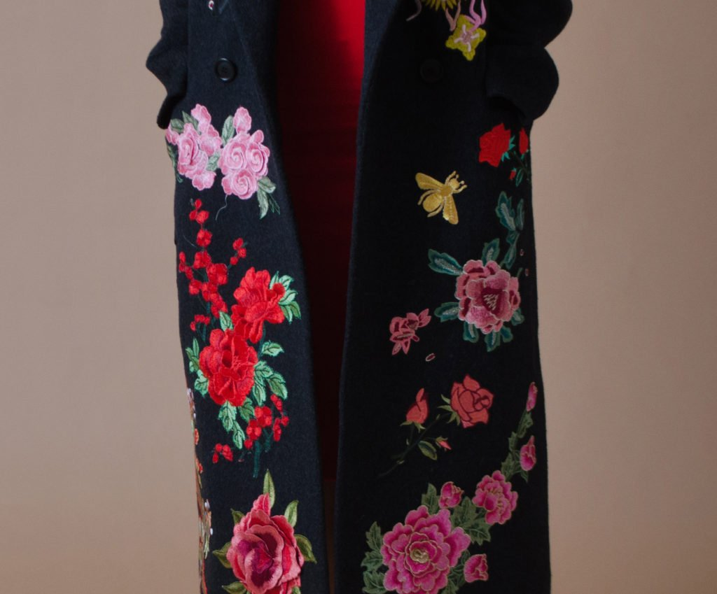 d92c4385cca DIY  Gucci Inspired Embroidered Fall Coat