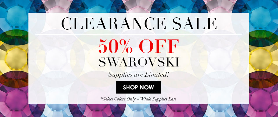 50% Off Swarovski Promotional Colors