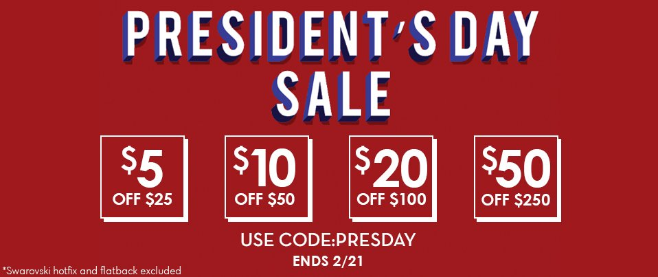 2.18.19 President's Day Sale