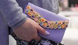 Our latest DIY: Beaded Trim Pastel Clutch