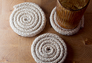 Our latest DIY: Jute Rope Coasters