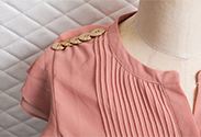 Our latest DIY: Button Embellished Spring Dress