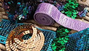 3 Row Stretch Braid 1 metre - Dance Costumes Sequin Trim