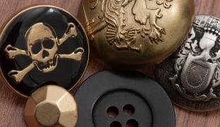 20 LARGE GOLD COLOURED PLASTIC BUTTONS BLAZER COAT JACKET