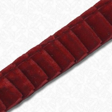 16mm Pleated Imported Velvet