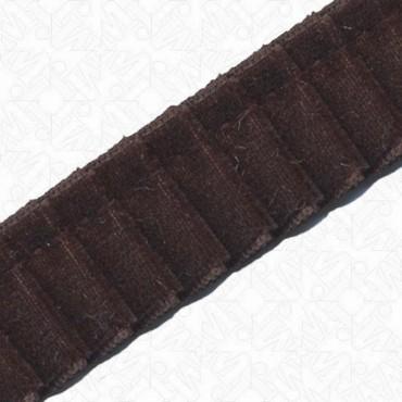 23mm Pleated Imported Velvet