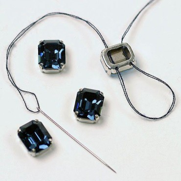 12mm X 10mm Swarovski Crystal Octagon W/Setting