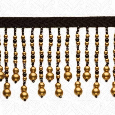 "3"" IMPORTED METALLIC BEADED FRINGE"