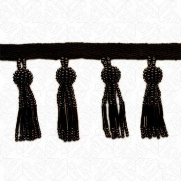 "2 1/4"" Imported Beaded Tassel Fringe"