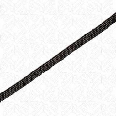 "3/8"" (10mm) 5 Row Bugle Bead Trim"