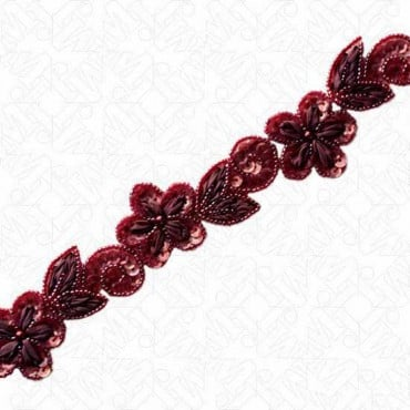 FLORAL RIBBON BEADED TRIM