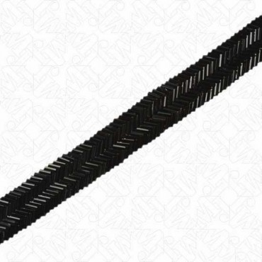 "7/8"" TWO-ROW CHEVRON BEADED TRIM"