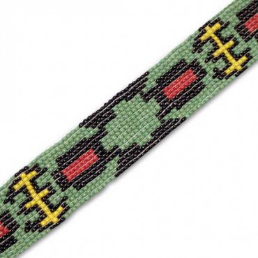 "1 1/8""(29mm) Native American Beaded Trim"