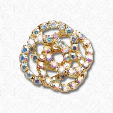 Rhinestone Knot Button