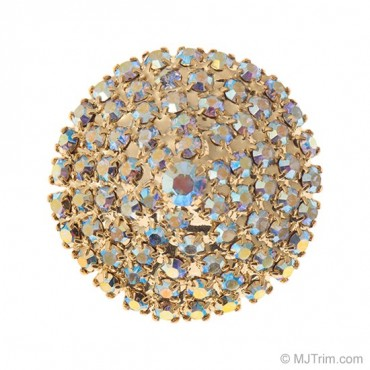 POINTED DOME RHINESTONE BUTTON