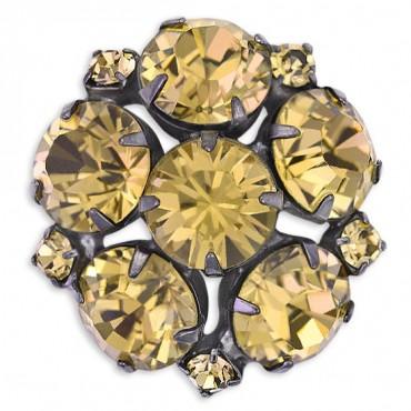 Dark Crystal Rhinestone Button