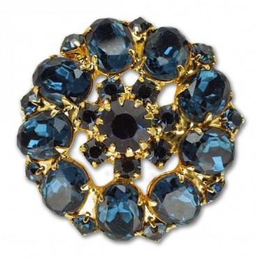 Rhinestone Gem Button