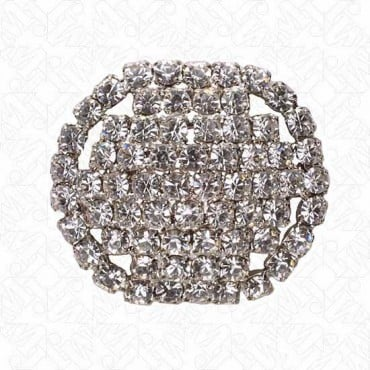 Oval Rhinestone Button